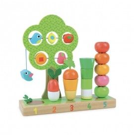I learn counting vegetables total